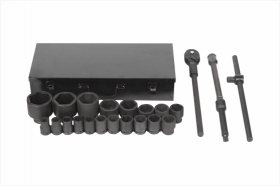 "3/4"" DR impact socket set 23 pcs."